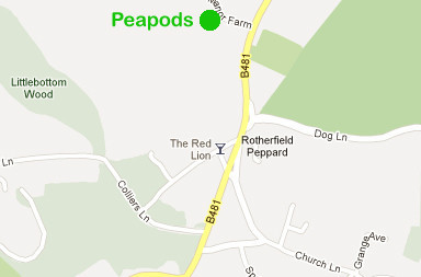 map of peapods rotherfield peppard